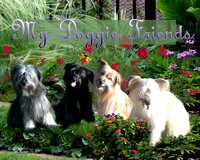 "Margi Elkins Note Cards ""All my Doggies Friends"""